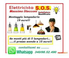 IL TUO LAMPADARIO MONTATO A ROMA CON 15 EURO