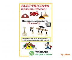 ELETTRICISTA PER I TUOI LAMPADARI CON SOLI 15 EURO