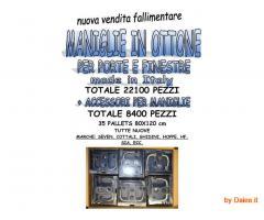Stock maniglie in ottone per porte e finestre 22100 pz Made in Italy