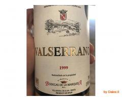 Vino Valserrano riserva 1999