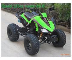 Quad 125cc ruote 8' 4 tempi nuovo con retro