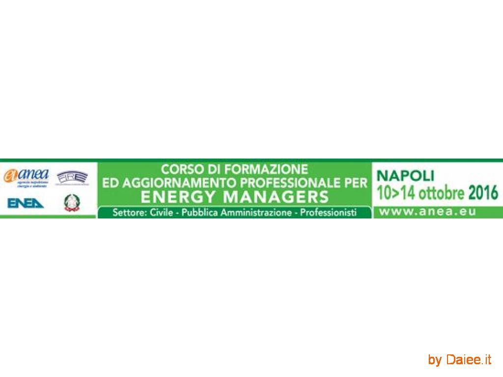 Corso di formazione e aggiornamento professionale per Energy Managers