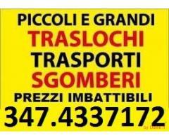 ROMA TRASLOCHI TRASPORTI E SGOMBERI OVUNQUE PREZZI MODICI 7GG SU7