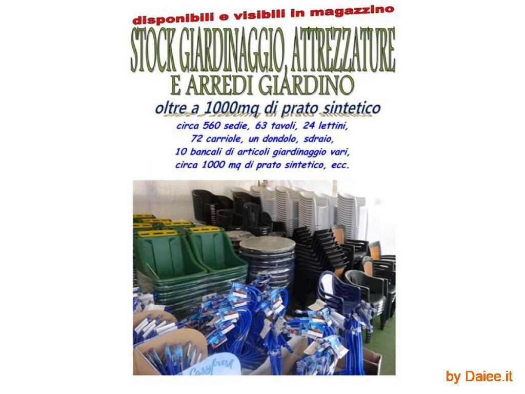 vendo stock articoli da giardino