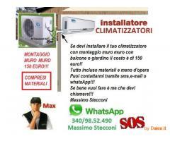 INSTALLARE CLIMATIZZATORE CON 150 EURO ANZIO E NETTUNO